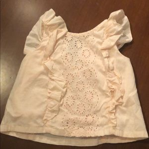 Girls gap eyelet ruffle top